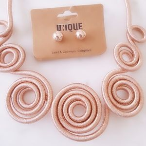 Jewelry - Statement Necklace Set (Rose Gold)